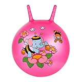 Minibaby 18in/45cm Knobby Bouncy Ball Bee Hop Ball with Handle,Perfect for Ages 4-5