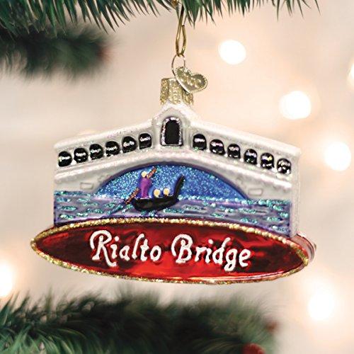 Rialto Bridge Glass Blown Christmas Ornament 20074 (Ornament European Blown Glass)