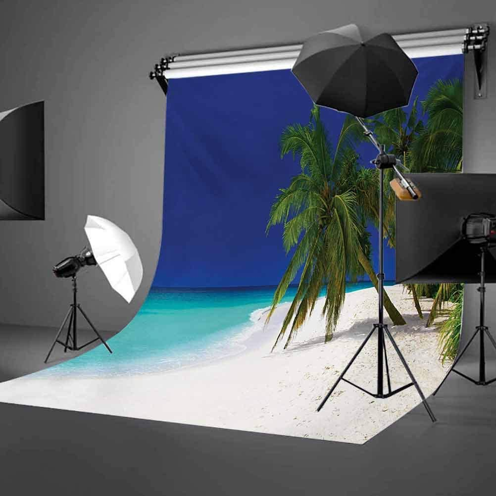 Ocean 10x12 FT Backdrop Photographers,Tropical Untouched Island Getaway Nature Coast Colorful View Picture Background for Child Baby Shower Photo Vinyl Studio Prop Photobooth Photoshoot