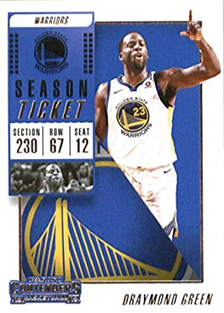 e76b035bf67 2018-19 Panini Contenders Season Ticket  18 Draymond Green Golden State  Warriors Basketball Card