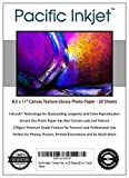 Pacific Inkjet - Canvas Textured inkjet Printer Photo Paper 20 Sheets (8.5-x-11-inch)
