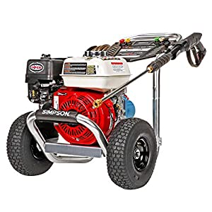 Simpson Cleaning ALH3425 Aluminum 3400 psi Gas Pressure Washer Powered by Honda GX200 Engine