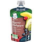 GERBER Organic Purée, Pear Banana Blueberry Raspberry, Baby Food, 12 x 128 ml (Pack of 12)