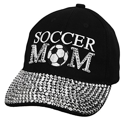 H-210-SCRM-06 Soccer Mom Baseball Cap - Black