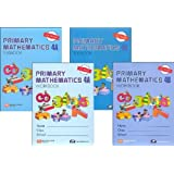 Primary Mathematics Grade 4 SET--Textbooks 4A and 4B, Workbooks 4A and 4B