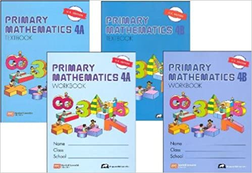 Counting Number worksheets maths worksheets for grade 4 : Primary Mathematics Grade 4 SET--Textbooks 4A and 4B, Workbooks 4A ...