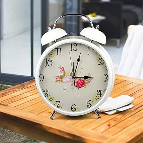 dongzhifeng Alarm Clock Bedside Mainpoweredbattery Operated Silent Scanning 9-Inch Large Desktop Retro Desktop Watch F ()