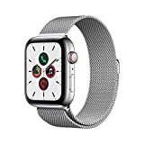 Apple Watch Series 5 (GPS+Cellular, 44mm) -  Stainless Steel Case with Milanese Loop