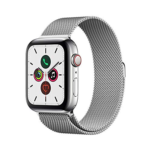 Apple Watch Series 5 (GPS+Cellular, 44mm) -   Stainless Steel Case with  Milanese Loop from APPLE