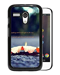 New Beautiful Custom Designed Cover Case For Motorola Moto G With Leaves Message Phone Case
