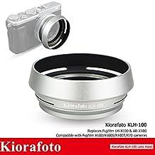 Kora Silver Lens Hood Shade 49mm Filter Adapter Ring for Fujifilm Fuji FinePix X100 X100S X100T X70 Replaces FUJIFILM LH-X100 AR-X100
