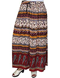 Womens India Long Summer Skirts Ankle Length Printed Indian Clothing