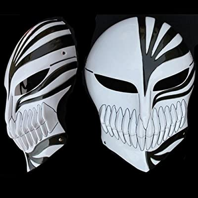 Red YK Halloween Masquerade Anime Death Bleach Resin Mask Kurosaki Cosplay Mask Decoration Gift