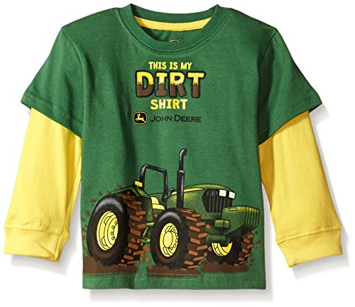 John Deere Baby Boys' 2 for Tee, Green, 3T