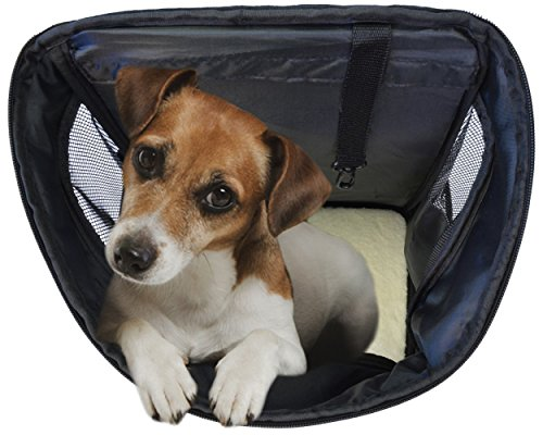 KritterWorld Pet Carrier Backpack for Small Dogs, Puppies, Cats, Kittens Up to 7lbs, Free Collapsible Dog Bowl Included, Comfort Mesh Pup Pack Great for A Walk, Travel, Hiking and Cycling
