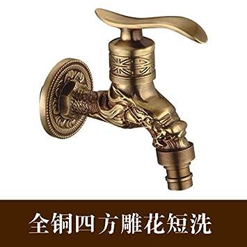 Fbict Lavadora de cobre de la grifería lavadora de estilo europeo ...