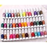 32 color nail art polish nail drawing 2-way pen brush