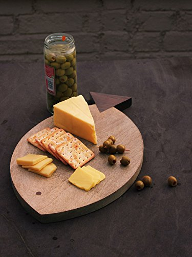 Wooden Cheese Cutting Chopping Board Vegetable Tray Hand Carved - Oak Cheese