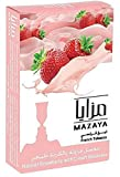 Mazaya Shisha Molasses Premium Flavors 50g For Hookah NonTobacco (Strawberry With Cream)