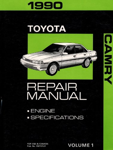 1990 Toyota Camry Repair Manual Vol.1 Engine & Specifications)
