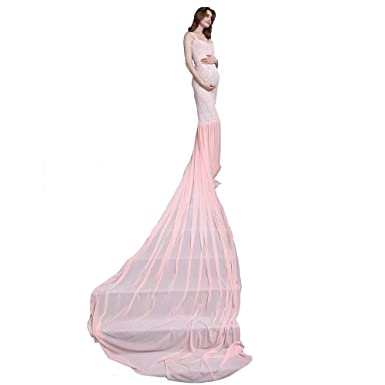 Dj Donjudy Lace Maternity Dress For Photography Props Women Gown