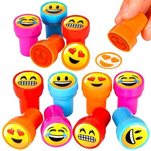 German-Trendseller  /® 12 x tampons /à Encre┃m/élange des Emojis┃Emoticons┃Icons┃ Assortis┃lanniversaire denfant┃id/ée Cadeau