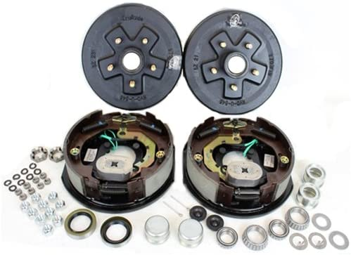 amazon com trailer brakes brake system automotivetrailer axle electric brake kit 5 4 5 bolt circle