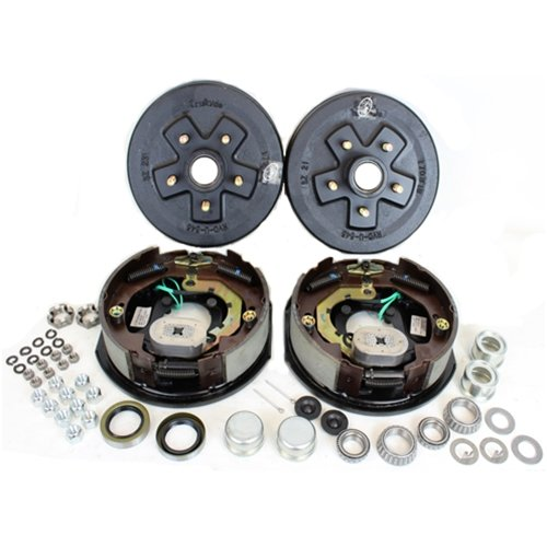 0 lbs. Trailer Axle Electric Brake Kit 5-4.5 Bolt Circle ()