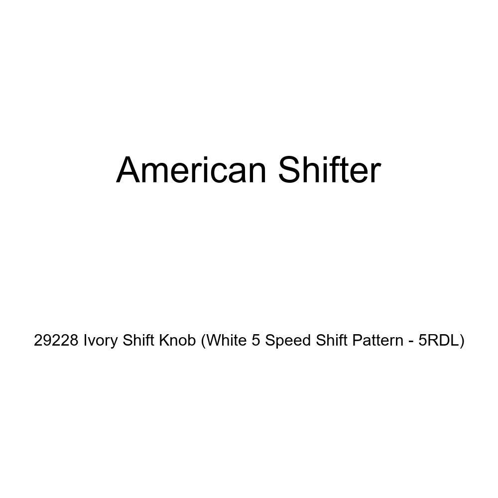 White 5 Speed Shift Pattern - 5RDL American Shifter 29228 Ivory Shift Knob
