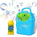 YIZI Bubble Machine,Kids Durable Automatic Bubble Blower for Girl and Boy,Simple and Easy to Use Bubble Toy
