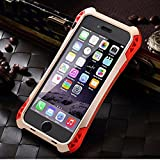 iPhone 6s Plus case ,bpowe sturdy case Waterproof Shockproof Dirt Proof Carbon Fiber Aluminum Metal Gorilla Glass Heavy Duty Armor Protection Case Cover for iPhone 6 6S Plus 5.5