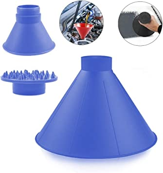 Ciao Life Ice Scraper Magic Funnel Round Windshield Ice Scrapers Magic Car Cone-Shaped Snow Removal Tool