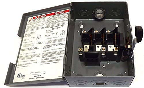 30 AMP 3 Phase Disconnect Switch Square D DSSQD341 (Switch Rotary Disconnect)