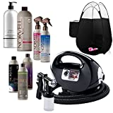 Fascination Spray Tan Machine and Gun Kit with Norvell Airbrush Tanning Solution Sunless Pro Bundle and Black Pop Up Tent