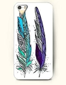 SevenArc Apple iPhone 4 4S Case Paisley Pattern ( Blue and Purple Feathers )