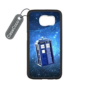 Doctor Who TARDIS Stars Custom Hard Plastic & Rubber Case for Samsung Galaxy S6 - Galaxy S6 Case Cover