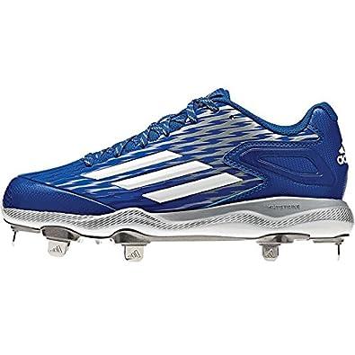 separation shoes 4f86f 96036 adidas Womens PowerAlley 3 Collegiate RoyalWhiteGrey Metallic Sneaker  6.5 M