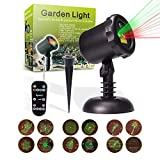 MICTUNING 12 Pattern LED Projector Light Weatherproof Landscape Lamp 65.5ft - Range RF Remote for Indoor Outdoor Christmas Party Garden Decoration