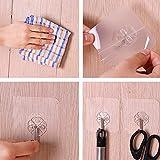 AKIWOS Wall Hooks Adhesive Hooks, 12 Packs