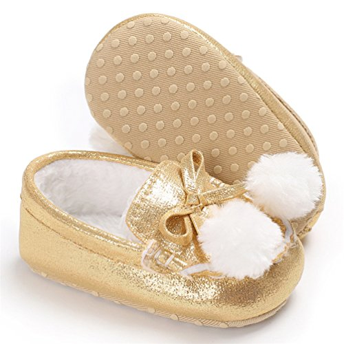 Lauflernschuhe Bluelans Mädchen Baby Baby Mädchen Lauflernschuhe Goldfarben Goldfarben Bluelans t4Pqp6qw