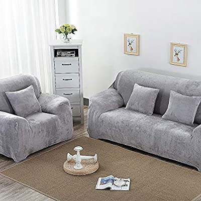 Thick Warm Stretch Elastic Sofa 1 2 3 4 Seater Protector Couch Cover Slipcover