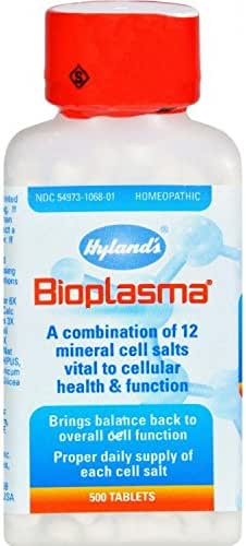 Hyland's Bioplasma Tablets, Natural Homeopathic Combination of Cell Salts Vital to Cellular Function, 500 Count by Hyland's Homeopathic