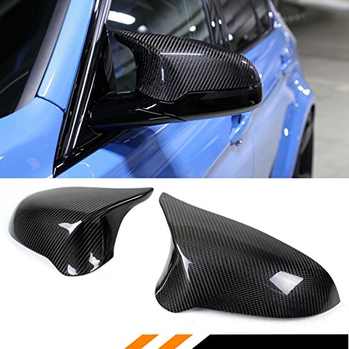 Bmw M3 Carbon Fiber (FOR 2015-2018 BMW F80 M3 F82 M4 CARBON FIBER DIRECT REPLACEMENT SIDE VIEW MIRROR COVERS)