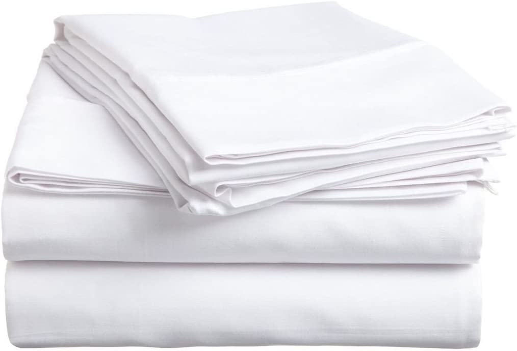 """400 Thread Counts 100/% Egyptian Cotton Extra Deep Fitted Sheet 16/"""" Depth White"""