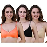 Yes Beauty Multi Colour Non-Padded Seamless Bra with Full Adjustable Straps(incl. 3 Bra)
