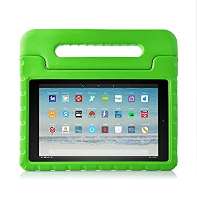 Kids Case for Fire HD 10 Tablet (7th Generation, 2017 Release), LTROP EVA Super Protective Fire HD 10 Case for Kids, Anti-Slip Light Weight Shock-Proof 2017 New Fire HD 10 Tablet Case from LTROP