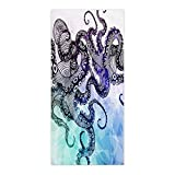 Crystal Emotion Watercolor Sea World Animal,Beach Towel Bath Towel Bathroom Shower Towel Bath Wrap For Body,Gym,Spa,Home,Hotel Use