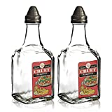 Restaurant Style Traditional Oil and Vinegar Cruet, Set of 2