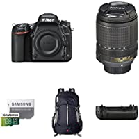 Nikon D750 FX-Format DSLR Camera with 18-140mm Lens Deluxe Battery Grip Bundle