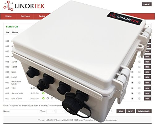 Linortek Netbell-4 TCP/IP Ethernet 4 Zone Bell Ringer Web-based Bell Controller for Alarm Signal Bell/Horn/Buzzer and Other Timed Equipment POE by Linortek (Image #1)